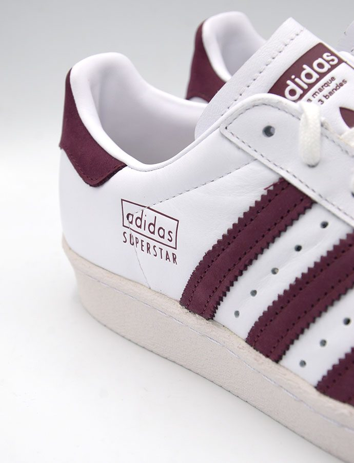 Adidas Superstar 80s White Maroon CM8439