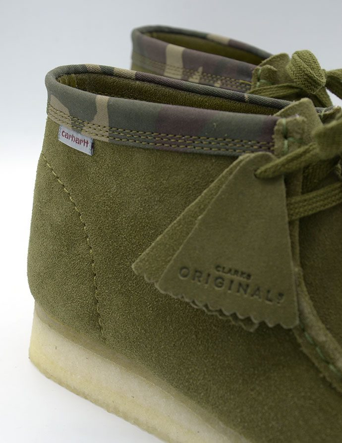 Clarks Originals Wallabee X Carhartt WIP Olive